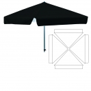 "78""  4 Sided Umbrella - Blank"