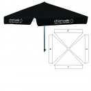 "78"" 4 Sided Umbrella  - 4 Imprint Locations"